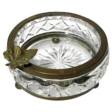 French Cut Crystal And Gilt Bronze Bowl