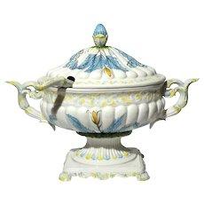 Italian Faience Pottery Tureen