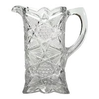 EAPG Illinois Square Water Pitcher,  Circa 1897