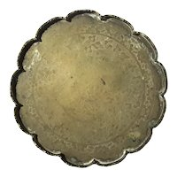 Chinese Etched Brass Round Tray