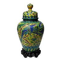 19th Century Chinese Sancai Enamelled Porcelain Jar