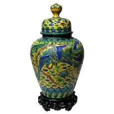 19th Century Chinese Sancai Enamelled Porcelain Jar