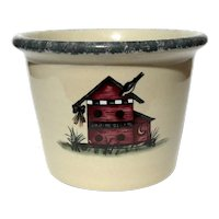 Birdhouse Pottery Crock By HOME & GARDEN PARTY