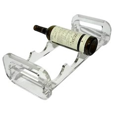 Lucite Wine Bottle Holder