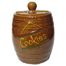 McCoy Pottery Barrel Cookie Jar