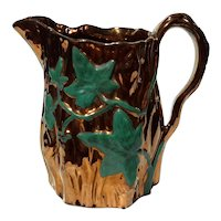 Large 19th Century English Copper Luster Pitcher