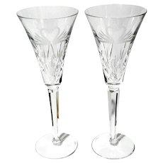Pair Of Waterford Crystal Swan Heart Toasting Glasses