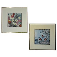 Pair Of Original Watercolor Paintings By Cece Tucker