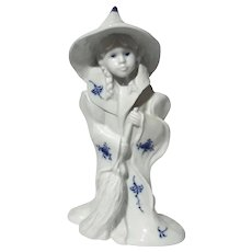 Royal Copenhagen Blue Fluted Girl In Witch Costume