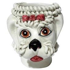 Mid-Century Vintage Italian Pottery Poodle Holder