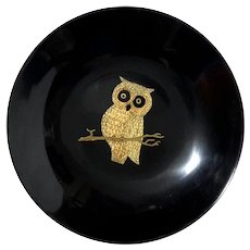 Vintage Couroc Of Monterey Owl Bowl