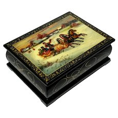Russian Lacquered Wood Box
