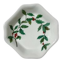 Haviland Limoges Porcelain Holly Bowl