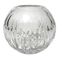 Ceskci Crystal Rose Bowl Vase