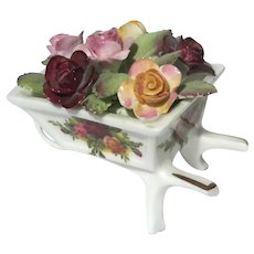 Royal Albert Old Country Roses Wheelbarrow
