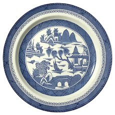 Pair Of Wood And Sons Blue Canton Dinner Plates