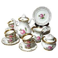 19th Century Meissen Rose Ivy 23 Piece Tea Set