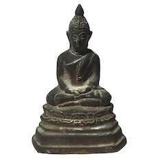 Antique Thai Bronze Buddha Figure