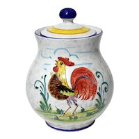Vintage Italian Casafina Pottery Rooster Jar