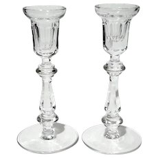 Pair Of Waterford Crystal Curraghmore Candlesticks