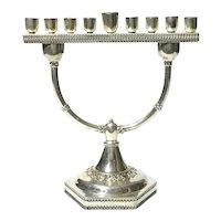 Nadav Art Sterling Silver Miniature Platform Menorah