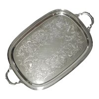International Silver Company Georgian Court Handled Tray