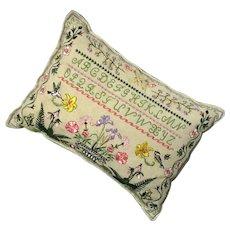 Alphabet Sampler Sawdust Pillow