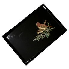 Large Couroc Of Monterey Sparrow Tray