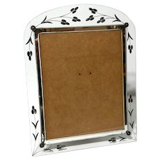 Mirrored And Etched Glass Picture Frame