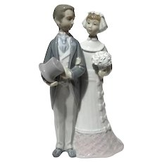 Lladro Porcelain Bride And Groom