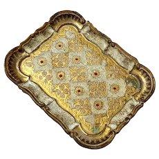 Italian Florentine Gilt Wood Tray