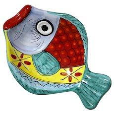 Italian Vietri Fish Platter Bowl