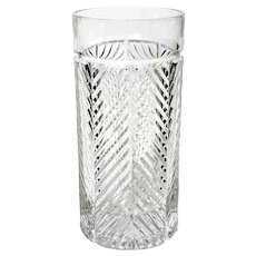 Highball Glass Herringbone By RALPH LAUREN CRYSTAL