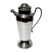 Large Mid-Century Vintage Chrome Cocktail Shaker