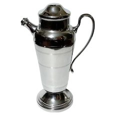 Large Mid-Century Vintage Chrome Cocktail Shaker