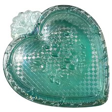 Large Fenton Carnival Glass Heart Box