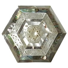 Vintage Mother-Of-Pearl And Abalone Box
