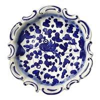 Italian Deruta Blue And White Pottery Bowl