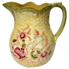 Longaberger Majolica Garden Pottery Pitcher