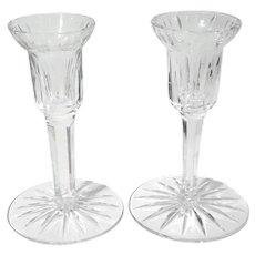 Pair Of Vintage Waterford Crystal Candle Holders