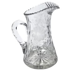 Antique Cut Crystal Pitcher