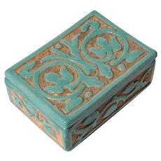 Vintage Raymor Bitossi SCRAFITO PV Italy Pottery Box