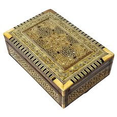 Antique Anglo-Indian Inlaid Wood Box