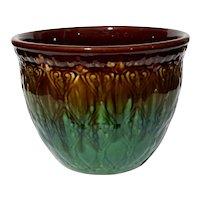 Large Majolica Pottery Jardiniere