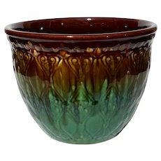 Large Majolica Pottery Jardiniere