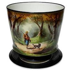 19th Century German Porcelain Scenic Cache Pot