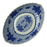 Japanese Blue And White Imari Porcelain Platter
