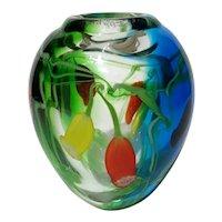 Murano Studio Art Glass Vase