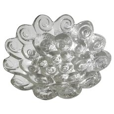 Josef Inwald Czech Barolac Glass Seashell Bowl