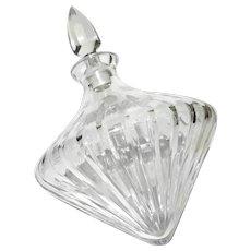 Vintage Tilted Crystal Decanter